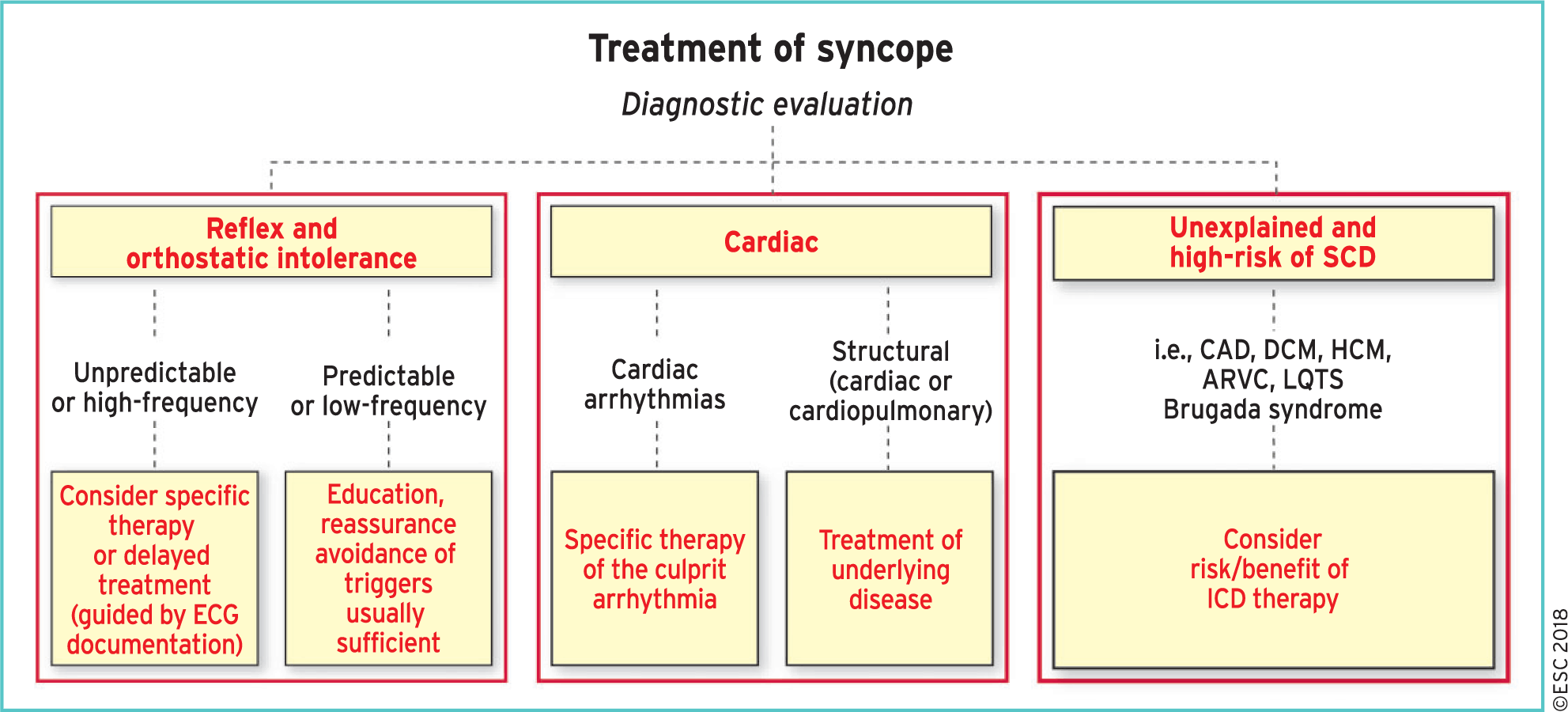 2018 ESC Guidelines for the diagnosis and management of syncope